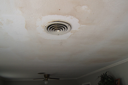 roof replacement interior damage